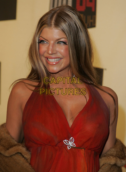 FERGIE - BLACK EYED PEAS.The VH1 Big in 04  Award Show held at The Shrine Auditorium in Los Angeles, California .December 1, 2004.headshot, portrait, brooch, red top.www.capitalpictures.com.sales@capitalpictures.com.Supplied by Capital Pictures