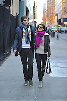 Emma Roberts & boyfriend actor Evan Peters, romantic walk in New York City