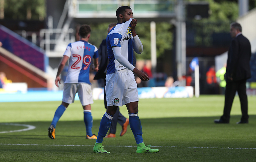 Blackburn Rovers' Dominic Samuel looks dejected at the end of todays match<br /> <br /> Photographer Rachel Holborn/CameraSport<br /> <br /> The EFL Sky Bet League One - Blackburn Rovers v Doncaster Rovers - Saturday August 12th 2017 - Ewood Park - Blackburn<br /> <br /> World Copyright &copy; 2017 CameraSport. All rights reserved. 43 Linden Ave. Countesthorpe. Leicester. England. LE8 5PG - Tel: +44 (0) 116 277 4147 - admin@camerasport.com - www.camerasport.com