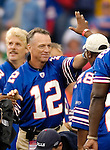 24 September 2006: Former quarterback of the Buffalo Bills Joe Ferguson (12) is honored during pre-game home opening activities at Ralph Wilson Stadium in Orchard Park, NY. Ferguson played 11 seasons with the Bills. Mandatory Photo Credit: Ed Wolfstein Photo