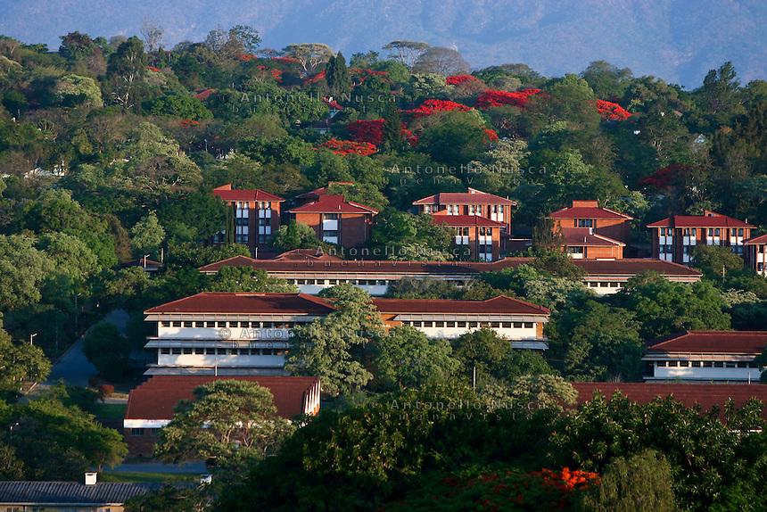 Alcune case di un centro residenziale di Harare,Zimbabwe