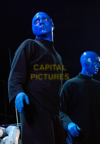 "BLUE MAN GROUP.Experimental musical theatre troupe the BLUE MAN GROUP performs as a part of the ""How To Be a Megastar Tour 2.0""  held at the Mellon Arena, Pittsburgh, Pennsylvania, USA, 30 September 2006..half length on stage concert show performance performing.Ref: ADM/JN.www.capitalpictures.com.sales@capitalpictures.com.©Jason L Nelson/AdMedia/Capital Pictures."