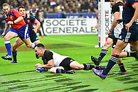 Ryan Crotty of New Zealand scores a try during the test match between France and New Zealand at Stade de France on November 11, 2017 in Paris, France. (Photo by Dave Winter/Icon Sport)