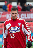06 April 2013: FC Dallas forward Kenny Cooper #33 in action during the warm-up in an MLS game between FC Dallas and Toronto FC at BMO Field in Toronto, Ontario Canada..The game ended in a 2-2 draw..