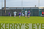Padraig Quille of St Senans sends Ballyduff's keeper Kevin O'Connor the wrong way in his penalty kick in The Bernard O'Callaghan Memorial Senior Football Championship quarter final replay last Sunday in Bob Stack Park, Ballybunion.