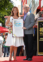 LOS ANGELES, CA. August 11, 2016: Roma Downey &amp; Mitch O'Farrell at Hollywood Walk of Fame Star ceremony for actress Roma Downey. <br /> Picture: Paul Smith / Featureflash