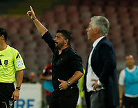 Gennaro Gattuso   during the  italian serie a soccer match,  SSC Napoli - Milan      at  the San  Paolo   stadium in Naples  Italy , August 25, 2018