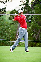 Jon Rahm (ESP) watches his approach shot on 2 during round 6 of the World Golf Championships, Dell Technologies Match Play, Austin Country Club, Austin, Texas, USA. 3/26/2017.<br /> Picture: Golffile | Ken Murray<br /> <br /> <br /> All photo usage must carry mandatory copyright credit (&copy; Golffile | Ken Murray)