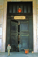 Italy: Rome--The Pantheon, original bronze doors.
