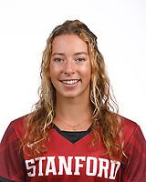 STANFORD, CA - August 16, 2019: Fenella Scutt on Field Hockey Photo Day.