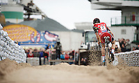 race leader Kevin Pauwels (BEL/Sunweb-Napoleon Games) flying over the sand<br /> <br /> Jaarmarktcross Niel 2015  Elite Men &amp; U23 race