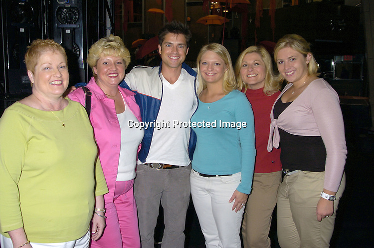 Mom Mary Bailey, sister Lisa Bailey, Scott Bailey, cousin Crista Resch, Teresa Resch and Stephanie ..at the P and G Party for The Hot Men of As The World Turns and Guiding Light on April 21, 2005 at Crobar. ..The Party was planned by David Turtura and was filmed for his TV Show on The Discovery Channel. Some of the Soap Stars helped set up the party.           Photo by Robin Platzer, Twin Images