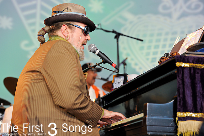 """Dr. John (Malcolm John """"Mac"""" Rebennack, Jr.) of Dr. John and the Lower 911 performs during Day 3 of the Voodoo Experience at City Park in New Orleans, Louisiana on October 30, 2011."""