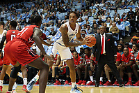 CHAPEL HILL, NC - NOVEMBER 01: Armando Bacot #5 of the University of North Carolina holds the ball during a game between Winston-Salem State University and University of North Carolina at Dean E. Smith Center on November 01, 2019 in Chapel Hill, North Carolina.
