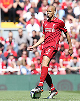 Liverpool's Fabinho<br /> <br /> Photographer Rich Linley/CameraSport<br /> <br /> The Premier League - Liverpool v Wolverhampton Wanderers - Sunday 12th May 2019 - Anfield - Liverpool<br /> <br /> World Copyright © 2019 CameraSport. All rights reserved. 43 Linden Ave. Countesthorpe. Leicester. England. LE8 5PG - Tel: +44 (0) 116 277 4147 - admin@camerasport.com - www.camerasport.com