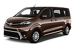 2018 Toyota Proace-Verso MPV 5 Door Minivan Angular Front stock photos of front three quarter view