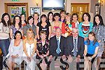 Nora Mai Kelliher celebrates her retirement from Cullina NS with her collegues in the Beaufort bar, Beaufort on Tuesday front row l-r: Eileen Murphy, Myra Cronin, Nora Mai Kelliher, Mossie Kelliher, Bertie O'Connor, Gema Doyle. Back row: Catherine O'Shea, Lisa O'Sullivan, Michelle Quirke, Siobhain Spillane, Marie Murphy, Emma Dennehy, Lisa Fogarty, Siobhain O'Shea, Karen Lucey, Teresa Coffey, Nora Ferris, Agnes Curran and Eileen Sweeney    Copyright Kerry's Eye 2008