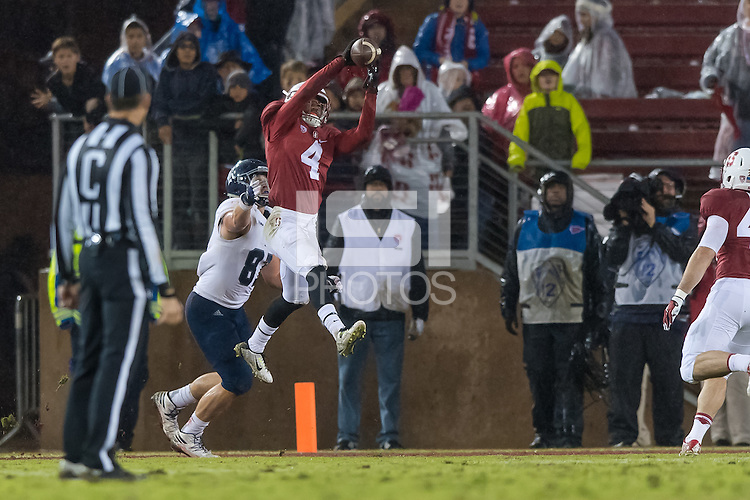 Stanford, CA - November 26, 2016: Treyjohn Butler during the Stanford vs Rice football game at Stanford Stadium. The Cardinal defeated the Owls 41-17.