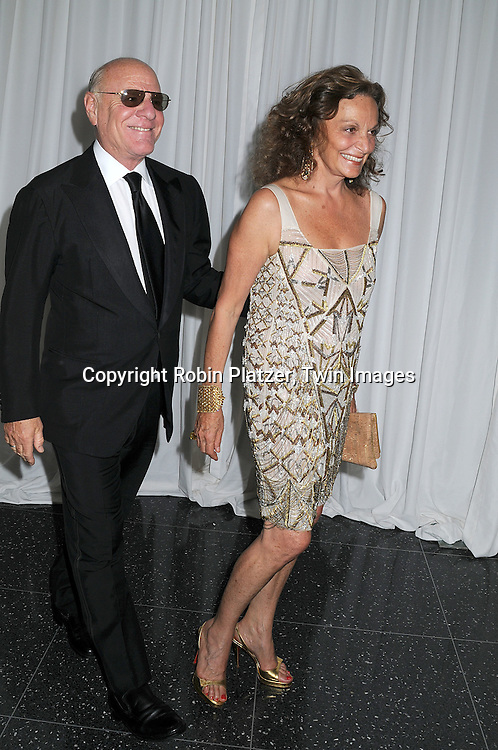 Barry Diller and wife Diane Von Furstenberg..arriving at The Museum of Modern Art's 40th Annual Party in the Garden on June 10, 2008 in New York City. ....Robin Platzer, Twin Images