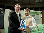 Colin Kruse poses for a picture with Ohio University President Duane Nellis during the 2018 Student Research Expo.