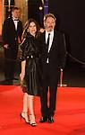 France, Géraldine Pailhas et Christopher Thompson arrivent à la cérémonie des César 2014, Paris, Théatre du Chatelet