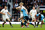 England's Billy Twelvetrees takes on Italy's Andrea Masi - RBS 6 Nations - England vs Italy - Twickenham Stadium - London - 14/02/2015 - Pic Charlie Forgham-Bailey/Sportimage