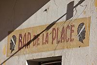 Europe/France/2B/Haute Corse/Balagne/ Corbara: Enseigne du Bar de la Place