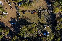 Aerial view of the encampment and camping tents inside a wooden corral for cattle ranches in Los Alisos, located in the Sierra Chivato, municipality of Santa Cruz Sonora during the Madrean Discovery Expedition. GreaterGood.org<br /> (Photo: LuisGutierrez / NortePhoto)<br /> <br /> Vista aerea del campemento y tiendas de acampar dentro de un corral de madera para el ganado en rancho los Alisos, ubicado en la Sierra Chivato, municipio de Santa Cruz Sonora durate la Madrean Discovery Expedition. GreaterGood.org<br /> (Photo:LuisGutierrez/NortePhoto)