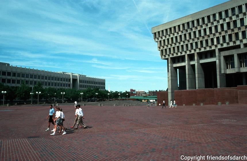 Boston:  City Hall and City Hall Plaza 1968.  Kallman, McKinnell & Knowles.  Photo '91.