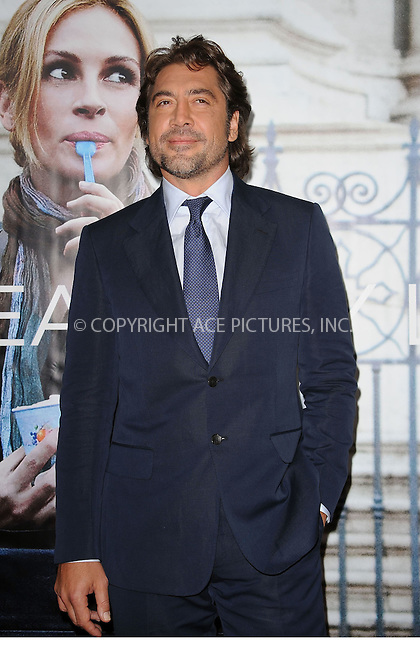 WWW.ACEPIXS.COM . . . . . ....August 10 2010, New York City....Javier Bardem at the premiere of the new movie 'Eat, pray,love' at the Zeigfeld Theatre on August 10 2010 in New York City....Please byline: KRISTIN CALLAHAN - ACEPIXS.COM.. . . . . . ..Ace Pictures, Inc:  ..(212) 243-8787 or (646) 679 0430..e-mail: picturedesk@acepixs.com..web: http://www.acepixs.com