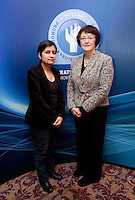 "*** NO FEE PIC***.16/12/2011.(L to R).Shami Chakrabarti Director Liberty,.Dr Joanna McMinn Chair Equality & Rights Allaince (ERA).during the ""The Future of Human Rights Global Techniques Securing Local Impact"" international seminar at The Westbury Hotel, Dublin..Photo: Gareth Chaney Collins"