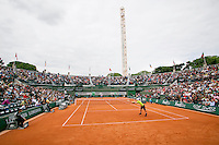 France, Paris, 28.05.2014. Tennis, French Open, Roland Garros, Andy Murray (GRB) on an overall view of court nr 1<br /> Photo:Tennisimages/Henk Koster