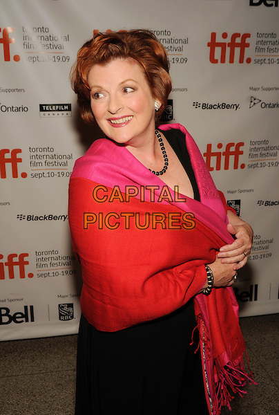 BRENDA BLETHYN.The 'London River' premiere held at The Visa Screening Room at the Elgin Theatre during the 2009 Toronto International Film Festival, Toronto, Ontario, Canada..September 17th, 2009.half length pink red wrap shawl looking over shoulder black dress pashmina .CAP/ADM/BPC.©Brent Perniac/AdMedia/Capital Pictures.