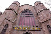 Salem Witch Museum in Salem, Massachusetts USA which is part of New England
