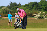 Paul O'Hanlon (Carton House) on the 17th green during Round 4 of the East of Ireland Amateur Open Championship sponsored by City North Hotel at Co. Louth Golf club in Baltray on Monday 6th June 2016.<br /> Photo by: Golffile   Thos Caffrey