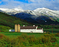 Park City Barn & Wasatch Mountains in Changing Seasons, Park City, Utah   Wasatch/Cache National Forest