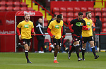 Players warm up in KIO t-shirts during the English League One match at the Bramall Lane Stadium, Sheffield. Picture date: November 19th, 2016. Pic Simon Bellis/Sportimage