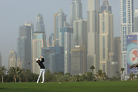Tommy Fleetwood (ENG) during the first round of the Omega Dubai Desert Classic, Emirates Golf Club, Dubai, UAE. 24/01/2019<br /> Picture: Golffile | Phil Inglis<br /> <br /> <br /> All photo usage must carry mandatory copyright credit (&copy; Golffile | Phil Inglis)