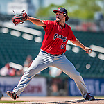 31 May 2018: Portland Sea Dogs pitcher Josh Taylor on the mound against the New Hampshire Fisher Cats at Northeast Delta Dental Stadium in Manchester, NH. The Sea Dogs rallied to defeat the Fisher Cats 12-9 in extra innings. Mandatory Credit: Ed Wolfstein Photo *** RAW (NEF) Image File Available ***