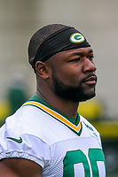 Green Bay Packers running back Ty Montgomery (88) during an Organized Team Activity on May 23, 2017 at Clarke Hinkle Field in Green Bay, Wisconsin.  (Brad Krause/Krause Sports Photography)