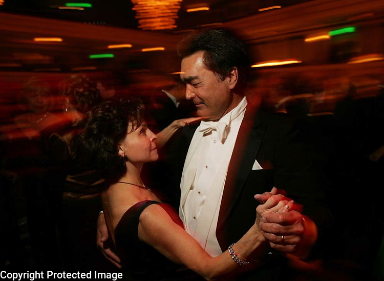 Amy Joyner and her husband Owen Joyner show off some dance moves to the music of The Pat Patrick Orchestra during the 2006 Symphony Ball benefiting the Nashville Symphony at the Schermerhorn Symphony Center in Nashville, Tenn.,  Saturday, Dec. 9, 2006.-&amp;#xD;Jeff Adkins /for The Tennessean<br />