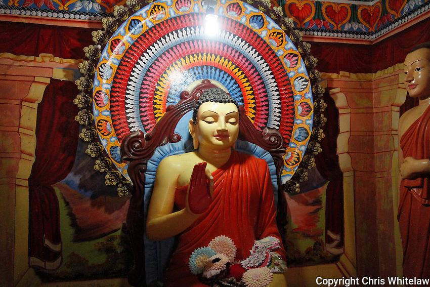 Seated Buddha statue (protection pose), Gangatilaka Vihara, Kalutara, Sri Lanka