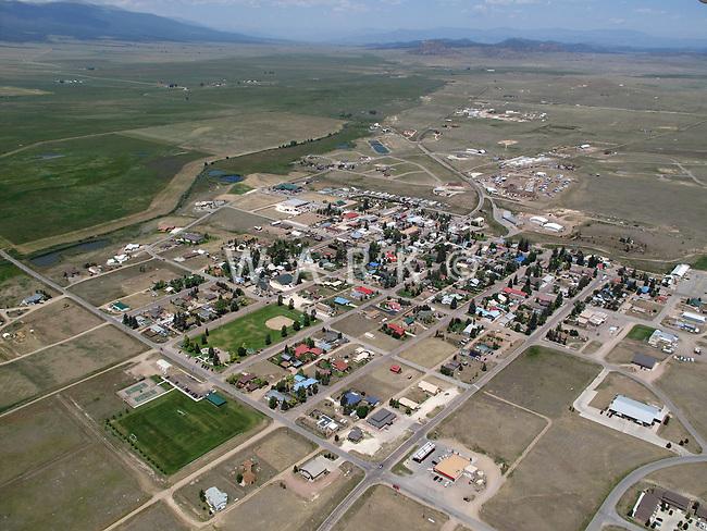 Westcliffe, Colorado aerial
