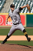 Missouri TIger Tyler Clark against the TCU Horned Frogs on Friday March 5th, 2100 at the Astros College Classic in Houston's Minute Maid Park.  (Photo by Andrew Woolley / Four Seam Images)