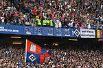 12.05.2018,  GER; 1.FBL Hamburger SV vs Borussia Moenchengladbach, im Bild Feature die Stadionuhr bleibt nach dem Schlusspfiff nicht stehen Foto © nordphoto / Witke *** Local Caption ***