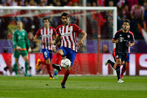 27.04.2016. Madrid, Spain.  Augusto Fernandez (12) Atletico Madrid. UEFA Champions League Champions League between Atletico de Madrid and Bayern Munich at the Vicente Calderon stadium in Madrid, Spain, April 27, 2016 .