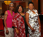 Waterbury, CT 061519MK05 (from left)  Katherine Brown, Karen Shell and Sabrina Eason gathered with the Zion Baptist Church to bid farewell to the Rev. Calbert Brantley and family at the Courtyard by Marriott Saturday evening.   Michael Kabelka / Republican-American
