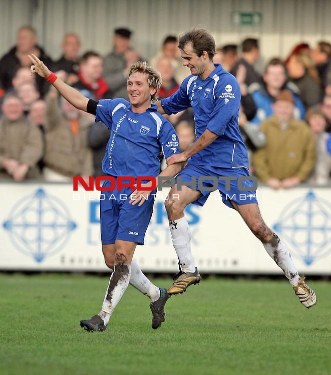 RLN  2006/2007 - 17. Spieltag - <br /> Kickers Emden vs Dynamo Dresden (gelb )<br /> <br /> 1:0 fuer Kickers Emden durch Ferhat Cerci - Jubel <br /> <br /> <br /> Foto &copy; nordphoto <br /> <br /> <br /> <br />  *** Local Caption ***