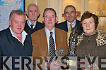 Beaufort pioneer Council who were overall winners of the St Patricks Day parade pictured at the presentation of prizes in the International hotel on Wednesday night. Receiving the prizes were ger Healy, tony O'Shea, Mick Foley and Bridie Shanahan with Cllr Michael Courtney, St Patricks Day parade committee....