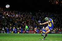 Picture by Alex Whitehead/SWpix.com - 17/03/2017 - Rugby League - Betfred Super League - Leeds Rhinos v Wakefield Trinity - Headingley Carnegie Stadium, Leeds, England - Leeds' Ahston Golding kicks for goal.